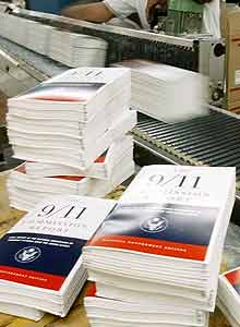The 9/11 Commission's Report comes off the presses - AP photo, Manuel Balce Ceneta