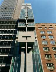 Austrian Cultural Forum, New York HQ. This building is 24 storeys tall but sits on the tiny footprint of a townhouse. Image (c) ACFNY