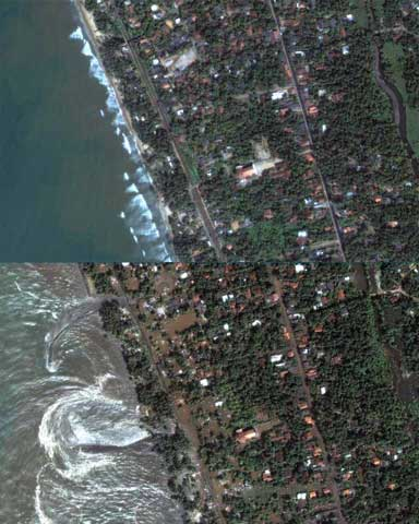 A photo of the effects of the tsunami