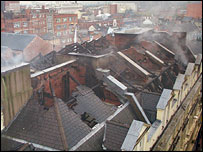 The roof of the buildings in Royal Avenue, Belfast