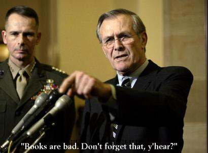 Donald Rumsfeld lays down The Law
