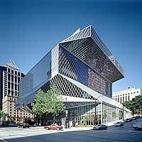 Seattle Public Library - exterior - copyright BENJAMIN BENSCHNEIDER / THE SEATTLE TIMES